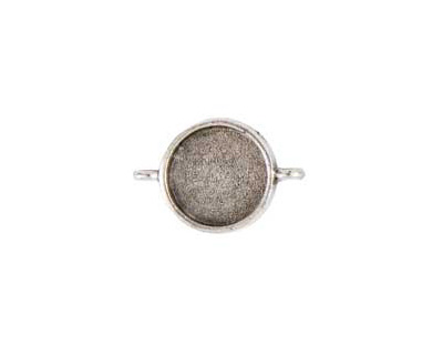 Nunn Design Antique Silver (plated) Small Circle Bezel Link 28x19mm