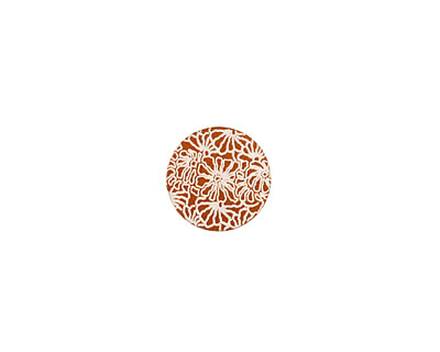 Lillypilly Bronze Weathered Daisy Anodized Aluminum Disc 11mm, 24 gauge