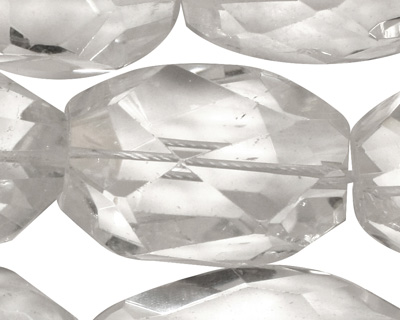 Rock Crystal Faceted Rice 30-32x22-25mm
