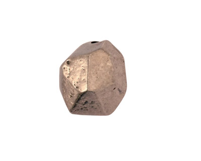 Green Girl Pewter Faceted Nugget 16mm