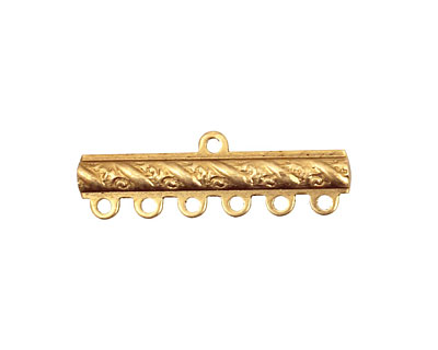 Brass Ribbon Bar 1-6 Link 9x28mm