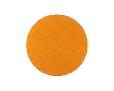 Lillypilly Orange Anodized Aluminum Disc 25mm, 24 gauge