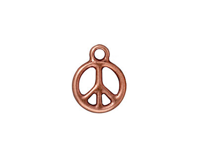 TierraCast Antique Copper (plated) Small Peace Charm 12x16mm