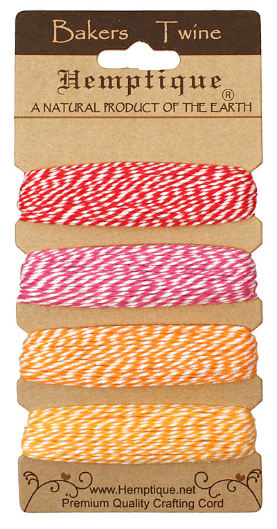 Candy Lane Bakers Twine 2 ply, 30 ft x 4 colors