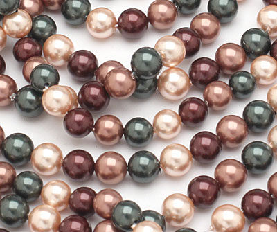Cordial Shell Pearl Mix Round 6mm