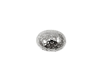 Silver (plated) Large Embossed Rice 14x10mm