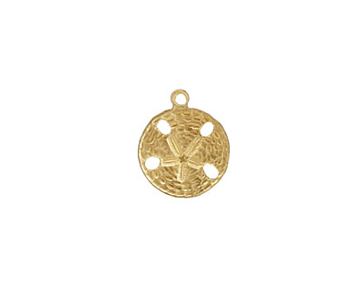 Brass Tiny Sand Dollar Charm 12x14mm