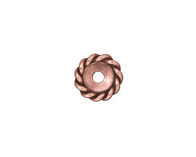 TierraCast Antique Copper (plated) Large Hole Twisted Heishi 2x11mm