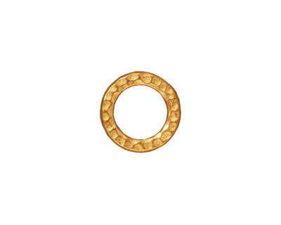 TierraCast Gold (plated) Medium Hammertone Ring 13mm