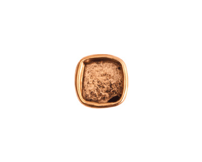 Nunn Design Antique Gold (plated) Small Square Frame Button 13mm