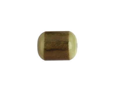 Tagua Nut Olive Bicolor Barrel 23-24x16-17mm