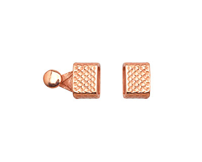 Copper (plated) Hammered Clasp 16x7mm