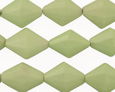 Lemon Chrysoprase Faceted Diamond 17x12mm