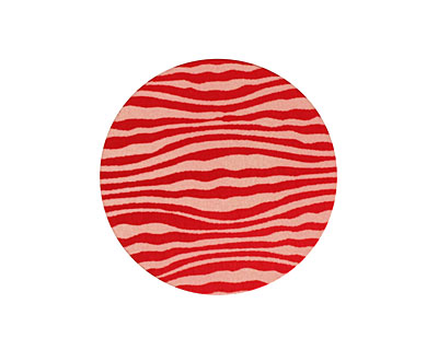 Lillypilly Red Zebra Anodized Aluminum Disc 25mm, 24 gauge
