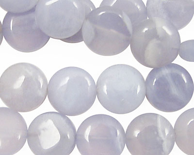 Chalcedony Puff Coin 12mm