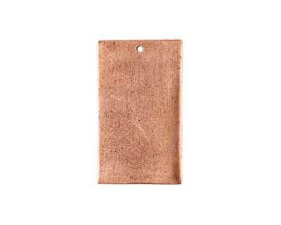 Nunn Design Antique Copper (plated) Flat Grande Rectangle Tag 21x37mm