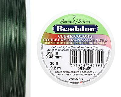Beadalon Green .015