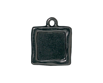 TierraCast Gunmetal Simple Square Frame Drop 18x21mm