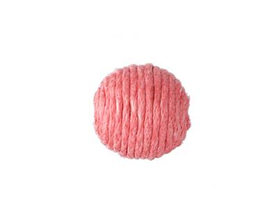 Grapefruit Thread Wrapped Bead 14mm