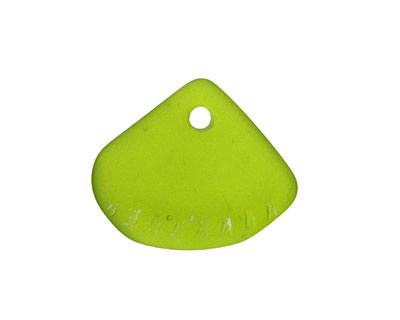 Olive Recycled Glass Clam Shell Drop 25x21mm