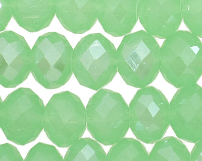 Green Opal Crystal Faceted Rondelle 10mm