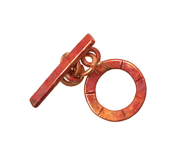 Patricia Healey Copper Small Lined Toggle 15x20mm, 22mm bar