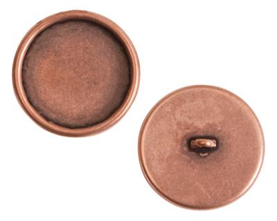 Nunn Design Antique Copper (plated) Large Circle Frame Button 21mm