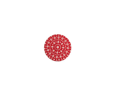 Lillypilly Red Crochet Anodized Aluminum Disc 11mm, 24 gauge