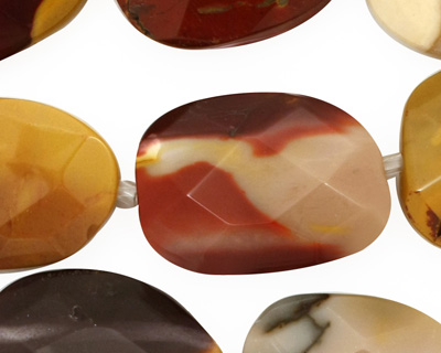 Mookaite Faceted Flat Slab 24-26x16-18mm