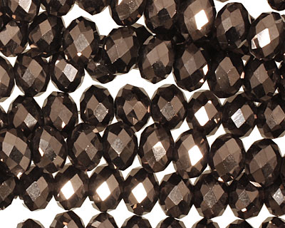 Oiled Bronze Crystal Faceted Rondelle 8mm