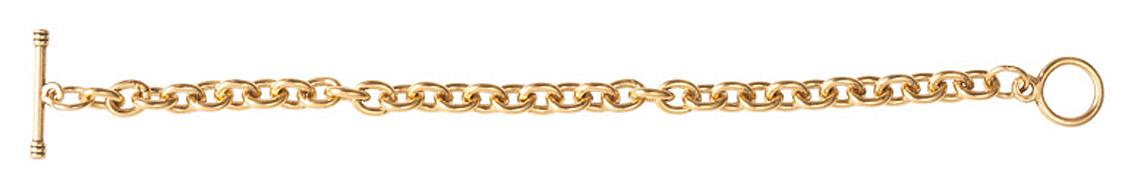 Nunn Design Antique Gold (plated) Charm Bracelet 7 1/2
