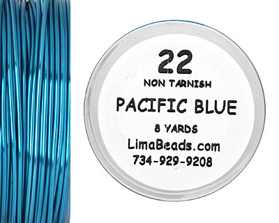 Parawire Pacific Blue 22 Gauge, 8 Yards