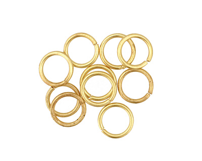 Satin Hamilton Gold (plated) Round Jump Ring 8mm, 18 gauge