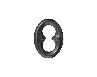 TierraCast Gunmetal Oval Quatrefoil Link 18x14mm