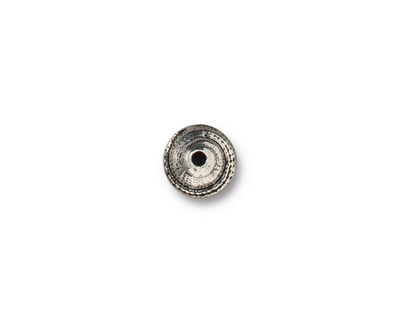 TierraCast Antique Silver (plated) 7mm Shell Bead Cap 8x4mm