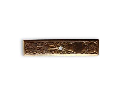Vintaj Natural Brass Etched Toggle Bar 29x6mm