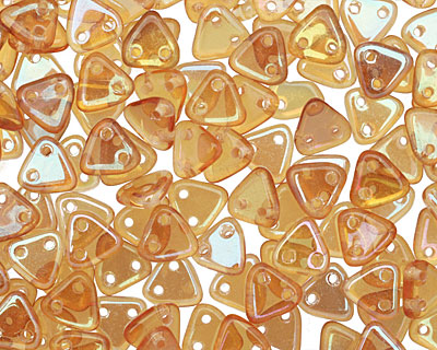 CzechMates Glass Rosaline Celsian 2-Hole Triangle 6mm
