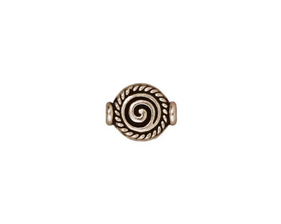 TierraCast Antique Silver (plated) Fancy Spiral Bead 12x9mm
