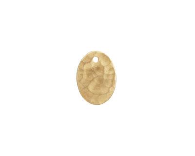 Brass Hammertone Small Flat Oval 10x13mm