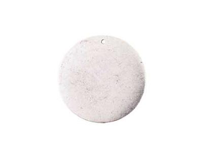 Nunn Design Antique Silver (plated) Flat Grande Circle Tag 31mm