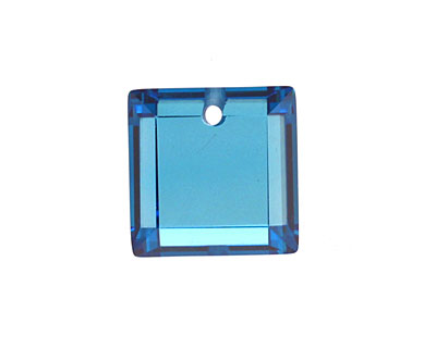 Sapphire Blue Faceted Square 18mm