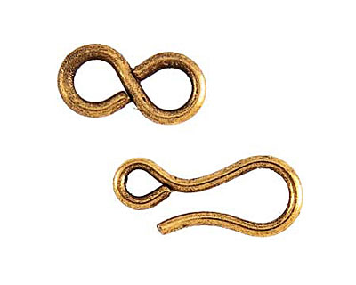 Nunn Design Antique Gold (plated) Hook & Eye Clasp Set 22x6mm