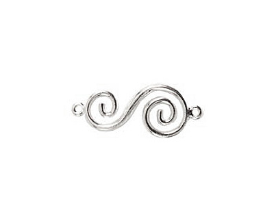 Nunn Design Sterling Silver (plated) Swirl Connector 32x14mm