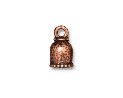 TierraCast Antique Copper (plated) Palace 6mm Cord End 15x9mm