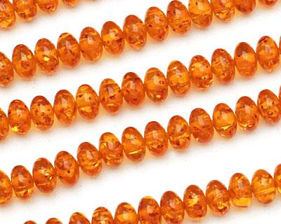 Medium Resin Amber Rondelle 8mm