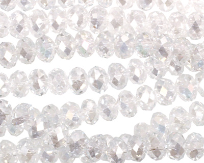 Clear AB Crystal Faceted Rondelle 6mm