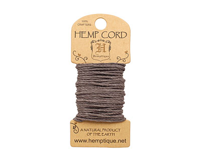 Gray Hemp Twine 20 lb, 20 ft