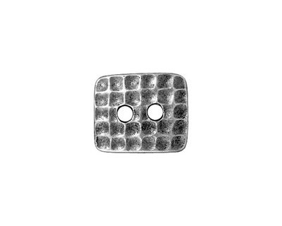 TierraCast Antique Pewter (plated) Rectangle Hammertone Button 15x13mm