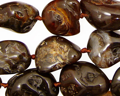 Mexican Fire Agate Tumbled Nuggets 15-26x13-20mm