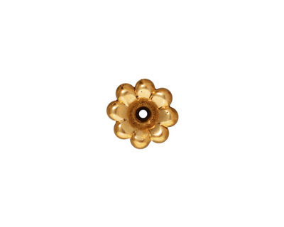 TierraCast Antique Gold (plated) Scalloped Bead Cap 5x11mm